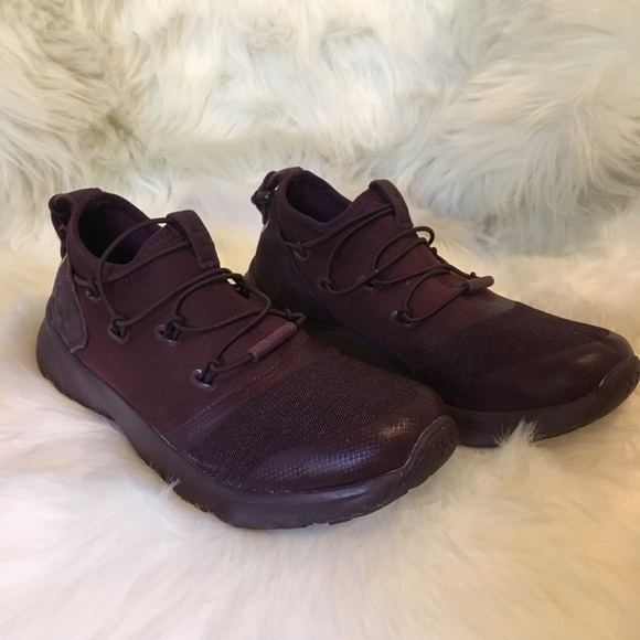 Under Armour Other - All Burgundy Under Armour Shoes Size 4Y